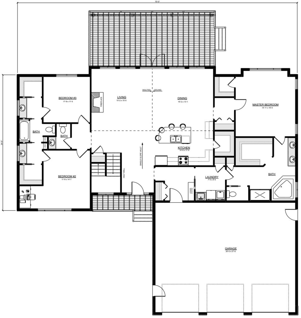 Bremner Floor Plan RTM Custom Home Builders