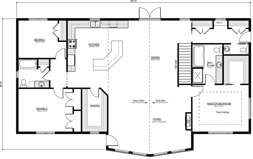 Corrick RTM Floor Plan for a Specialized Home