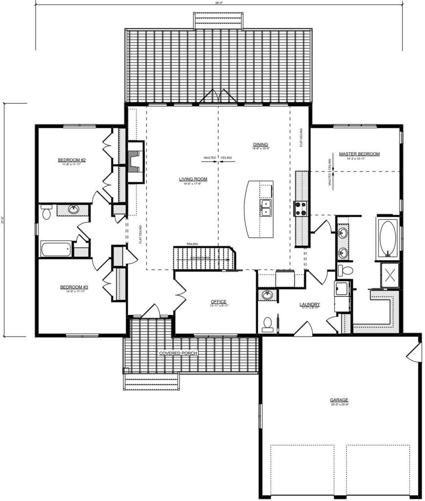 Olson RTM Floor Plan for Homeowners near Manitoba
